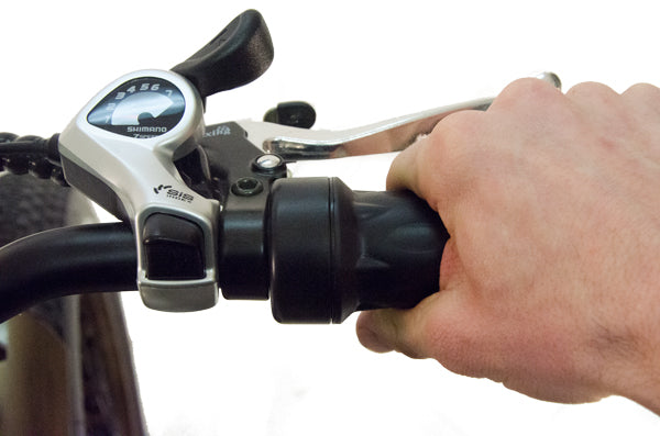 Use the twist throttle to engage the motor whenever you may need it