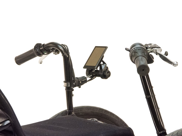 The direct steering handlebars allow a natural hand postion for Eco-Tad SX