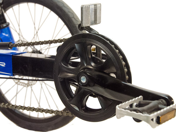 The simple 1x7 gearing provides all the gearing you'll need on the electric Eco-Tad SX.
