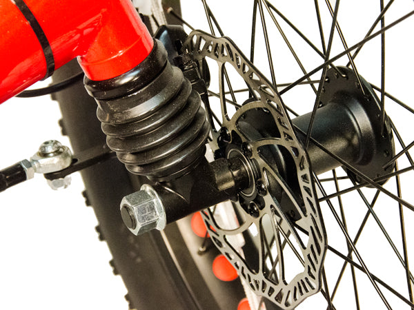 The independent fork intergrated front suspension smoothes out the terrain