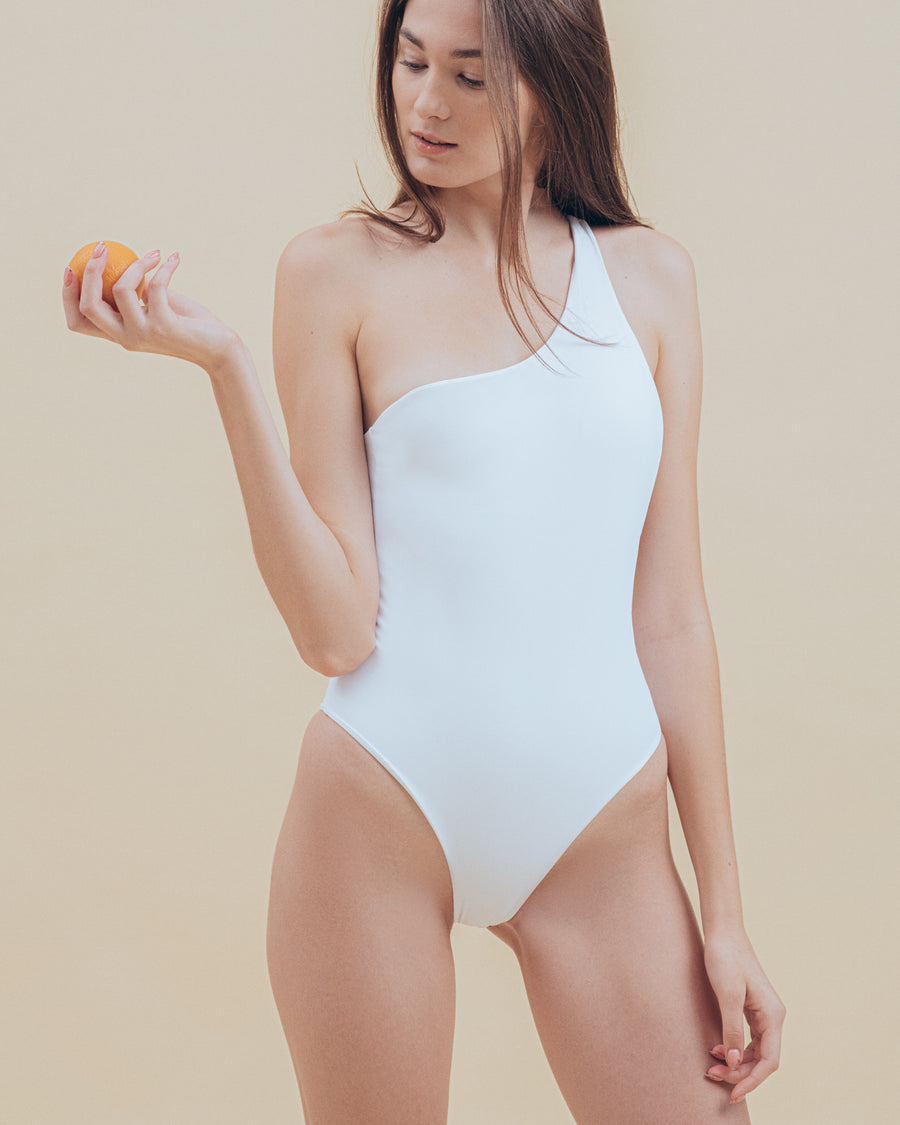 Quinn One-Piece in Snow - align swim