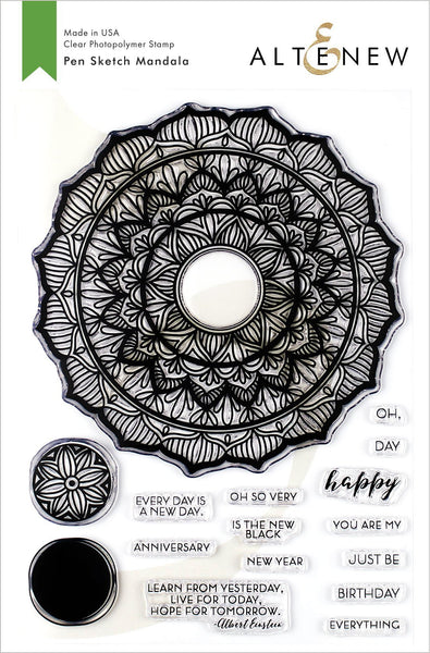 Altenew Pen Sketch Mandala Stamp Set