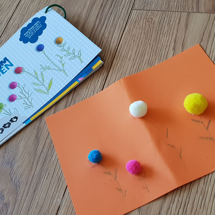 STEAM Learning Activity - Creating a pom pom garden