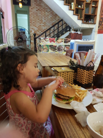 Hamburger for kids at Red Gecko Hoi An