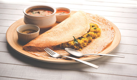 Masala Dosa South Indian Pancake with Potato Curry inside