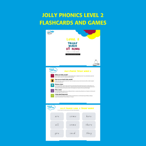 Jolly Phonics Tricky Words Group 2 Printable Flashcards