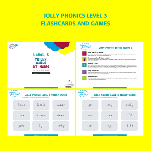 Jolly Phonics Tricky Words Group 3 Printable Flashcards