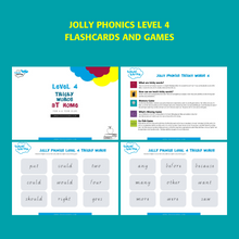Load image into Gallery viewer, Jolly Phonics Tricky Words Level 4 Printable Flashcards
