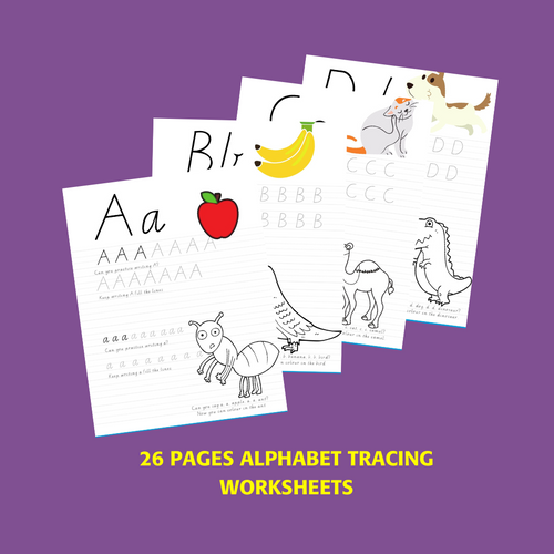 Alphabet Worksheets for 4-6 Year Olds In Victorian Cursive 26 pages