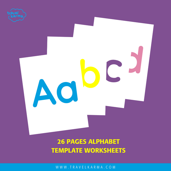 Solid Colour Alphabet Worksheets