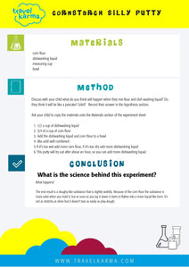 Science Experiment Template and 10 experiments for kids