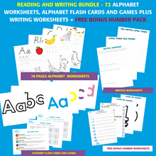Load image into Gallery viewer, Alphabet learning pack + free number pack