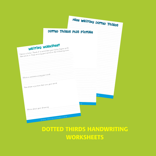 Handwriting Dotted Thirds Worksheets Value Package