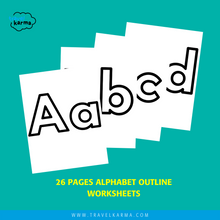 Load image into Gallery viewer, Alphabet Outline worksheets for preschoolers