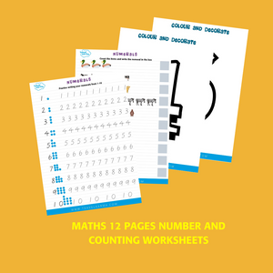 Numbers 1-10 activity worksheets for kindergarten