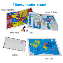 Load image into Gallery viewer, Travel Board Games - Snakes and ladders & Around the World