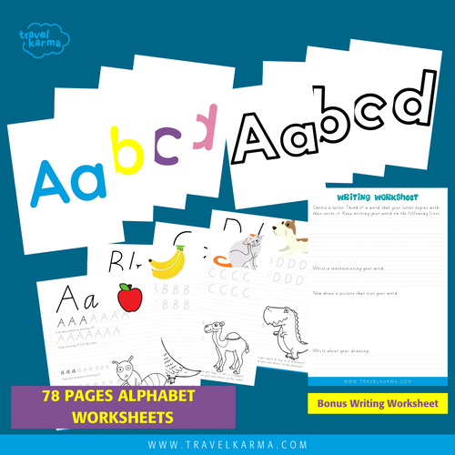Alphabet worksheet value bundle