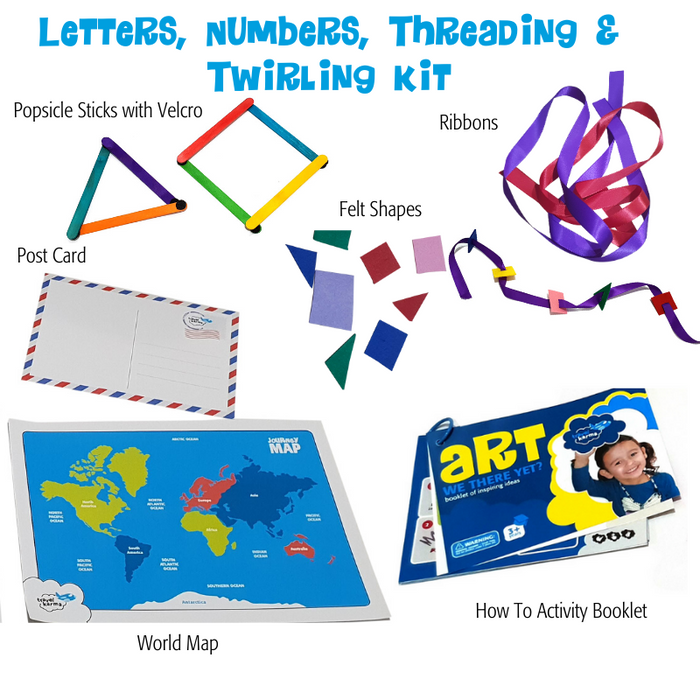 Letters, Numbers, Threading, and Twirling Kit