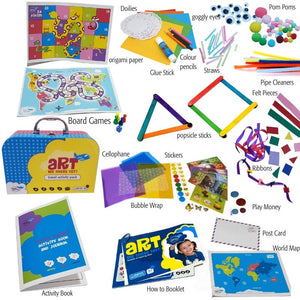 Captivate kids for the long haul with the Jumbo Travel Activity Pack
