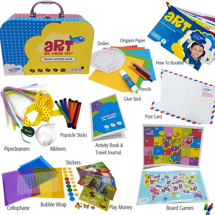 Activity Pack Captivates Kids but no fiddly bits