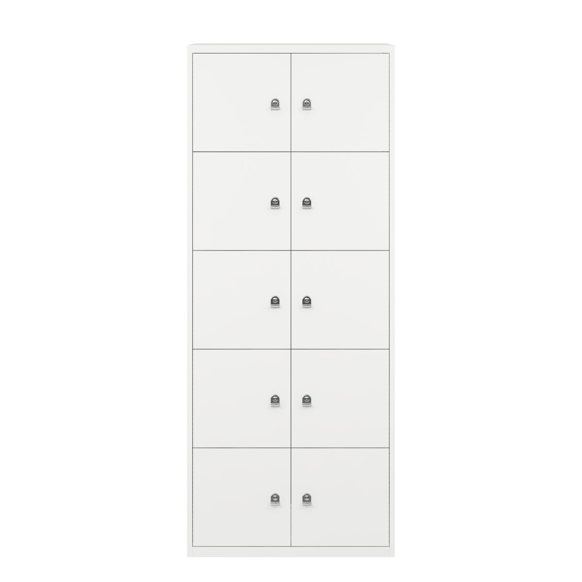 Bisley Metal Office Ten Door LateralFile Locker Traffic White
