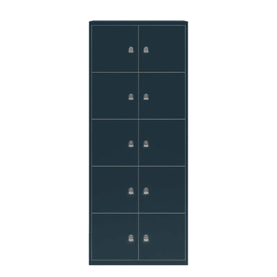 Bisley Metal Office Ten Door LateralFile Locker Anthracite Grey