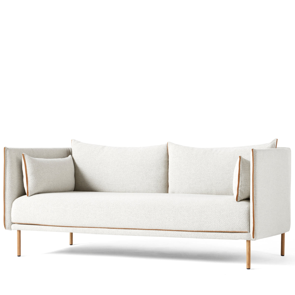 HAY Office Silhouette Sofa 2 Seater - Oak Leg Coda