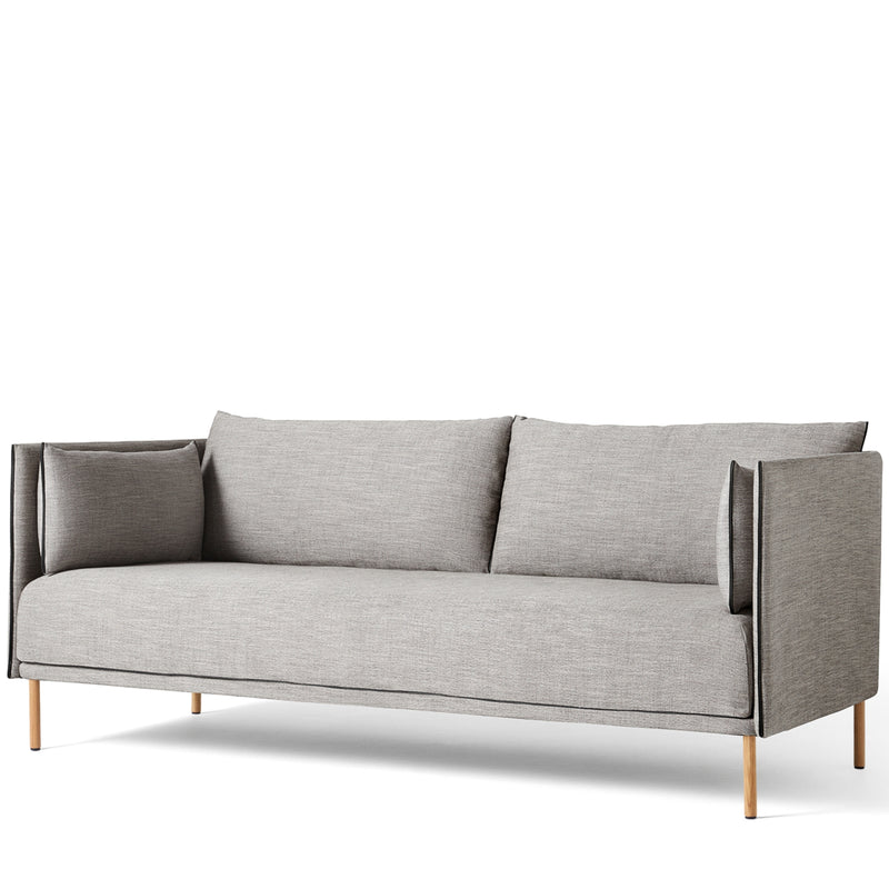 HAY Office Silhouette Sofa 2 Seater - Oak Leg Linara
