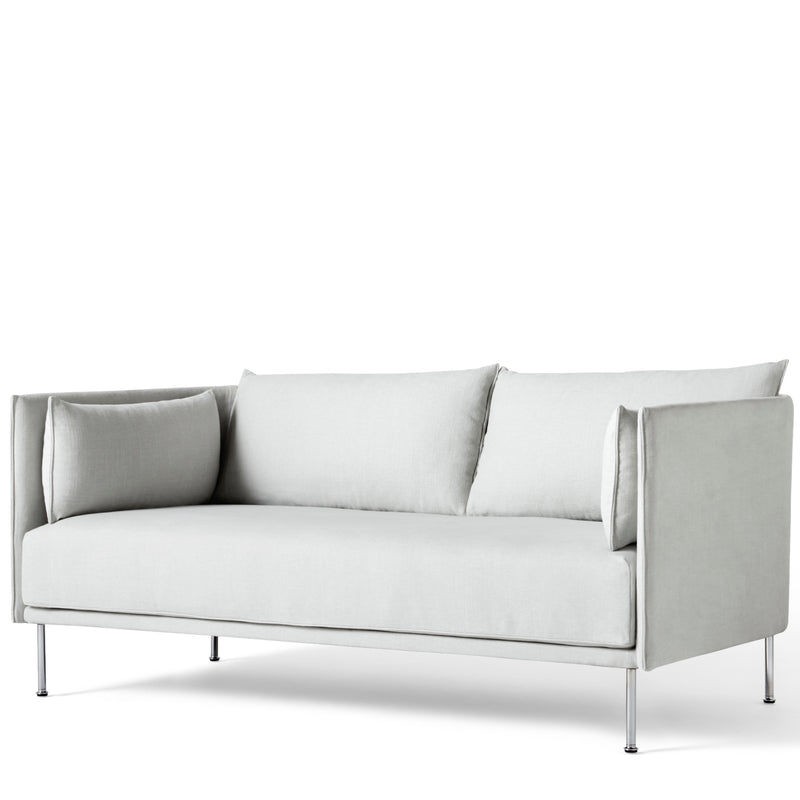 HAY Office Silhouette Sofa 2 Seater - Steel Leg Linara