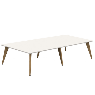 Mobili Office White Pyramid Wood Meeting Room Table