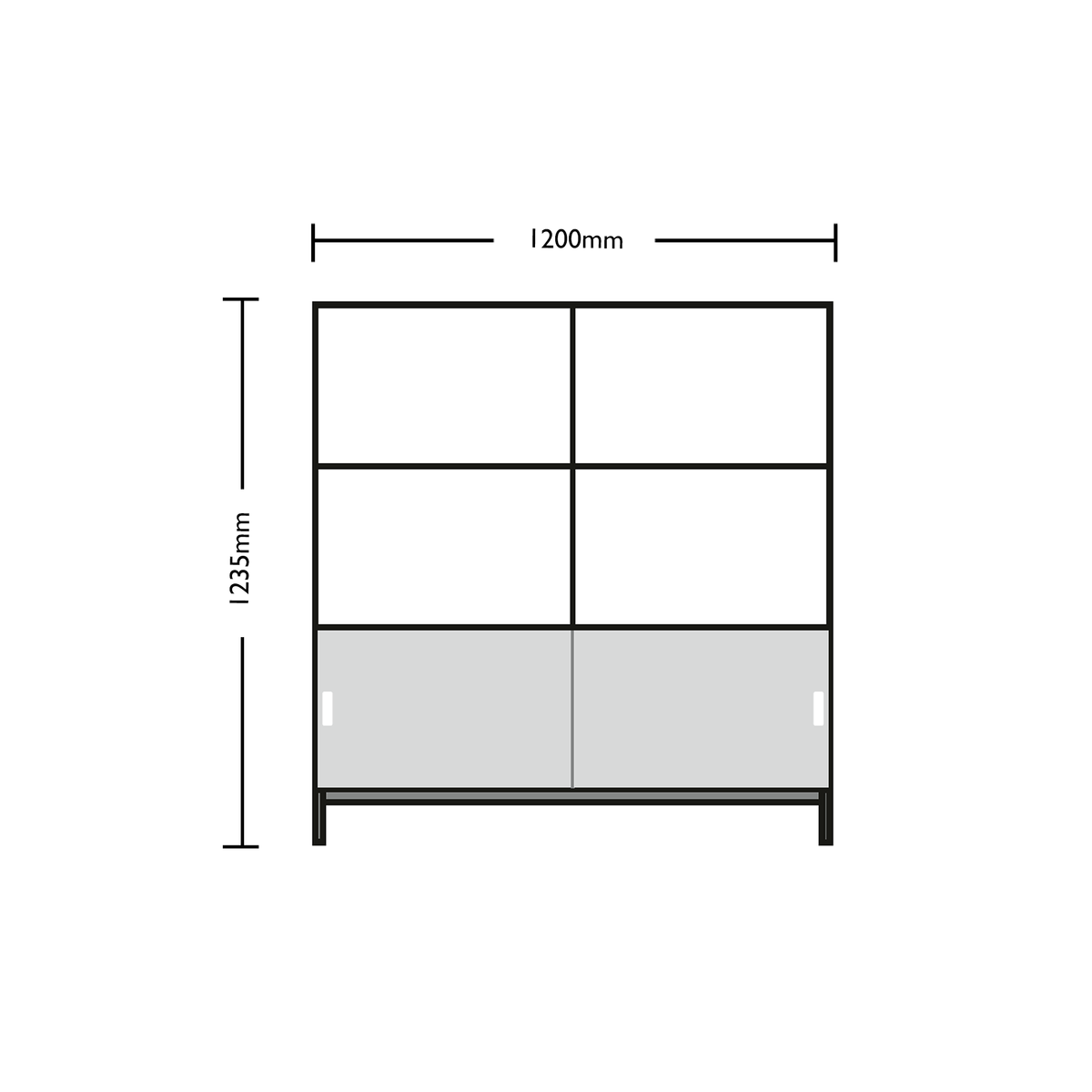 Dimensions for Edsbyn Neat Office Storage