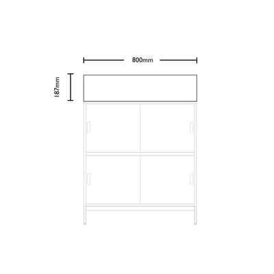 Dimensions for Edsbyn Office Neat Green Planter Box 800mm