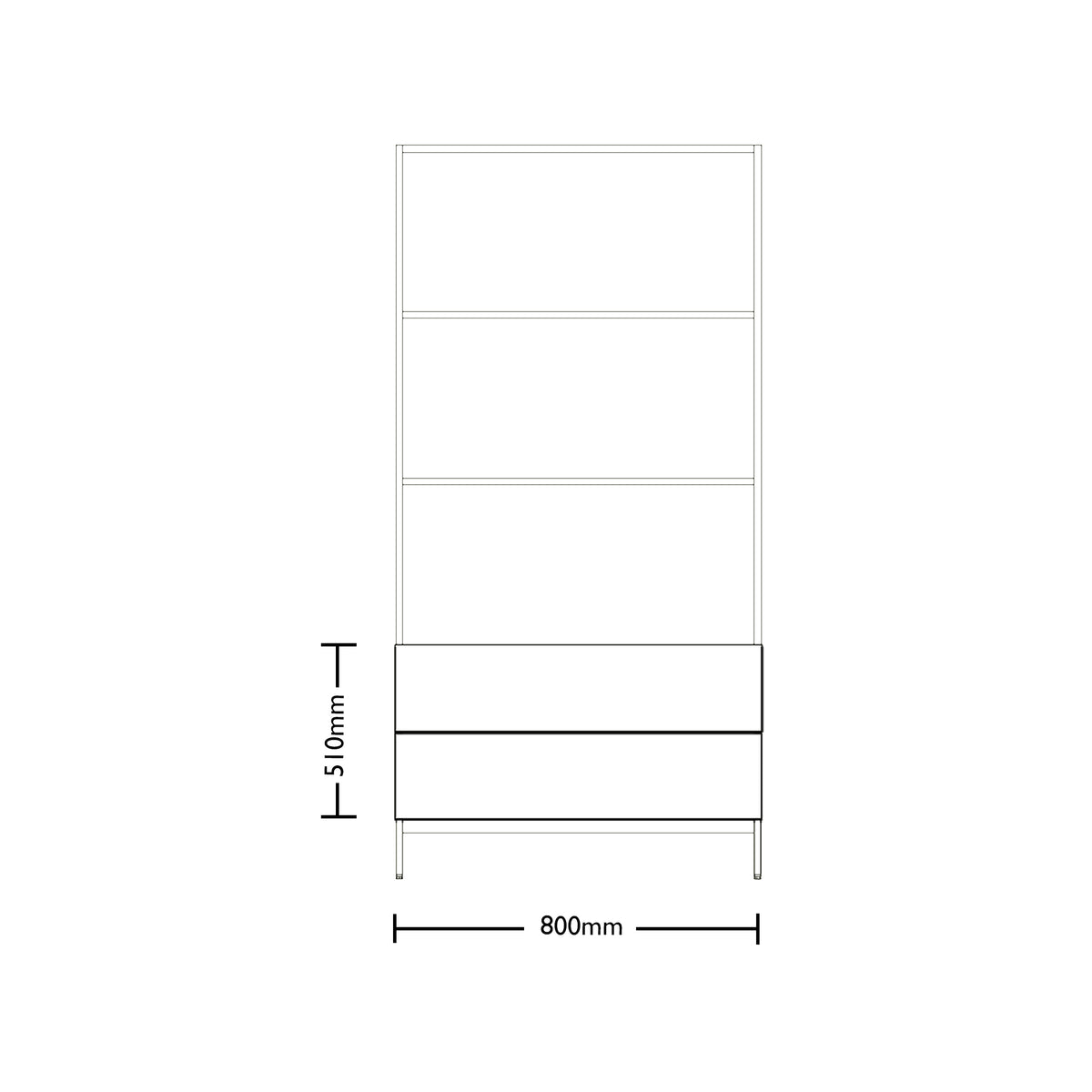 Dimensions for Edsbyn Office Neat Green Planter Box with Black Base 800mm
