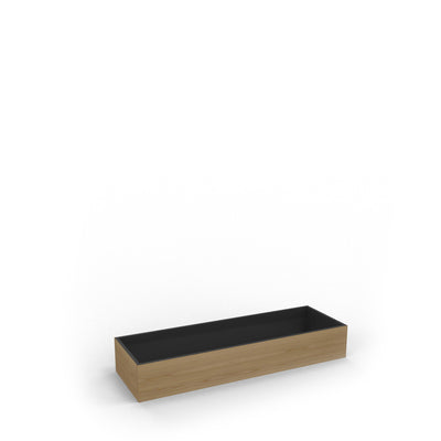 Edsbyn Office Neat Green Planter Box Oak Veneer 1200mm