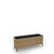Edsbyn Office Neat Green Planter Box with Black Base 1200mm Oak Veneer