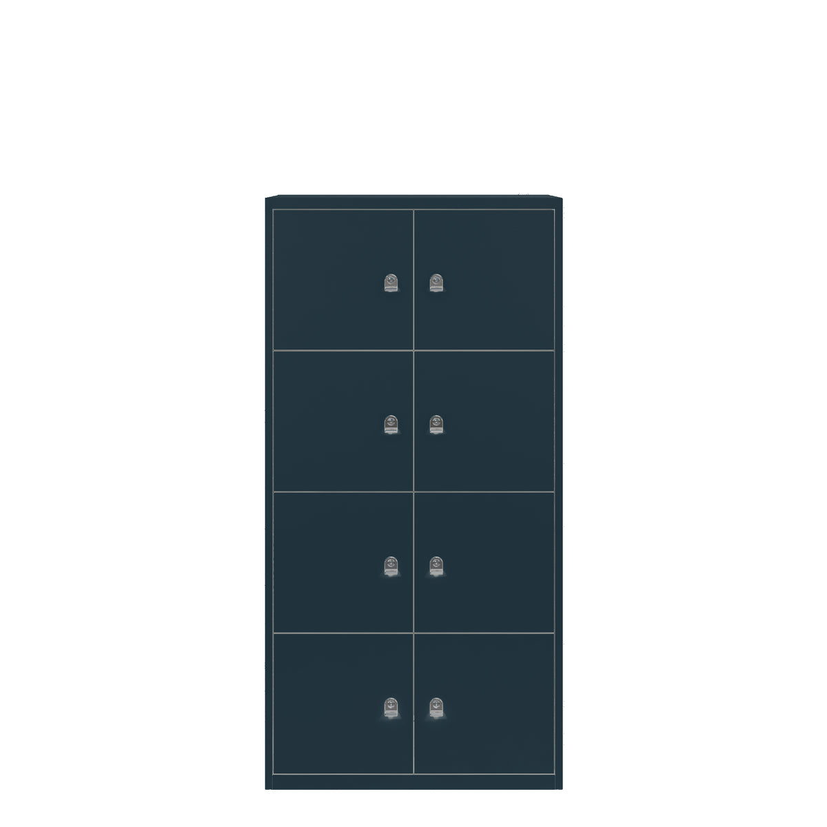 Bisley Anthracite Metal Office Eight Door LateralFile Locker