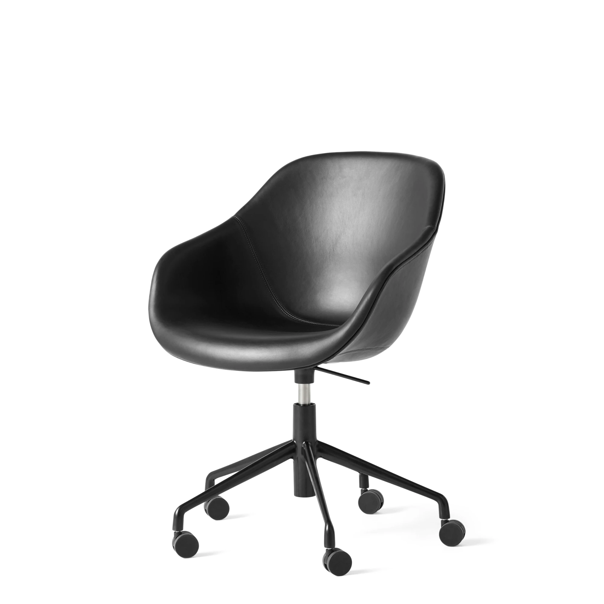 HAY AAC 153 Black Leather Home Office Task Chair