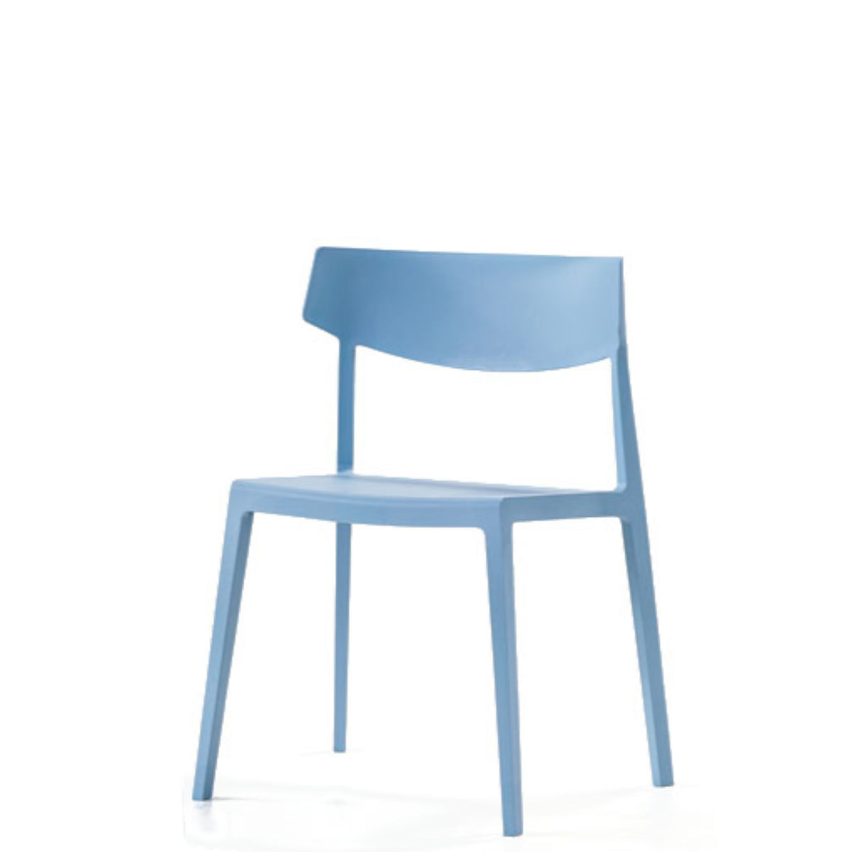 Actiu - Wing Stackable Chair - Set of Four - Light Blue - Pack of 4 Chairs