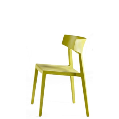 Actiu - Wing Stackable Chair - Set of Four - Pistachio - Pack of 4 Chairs