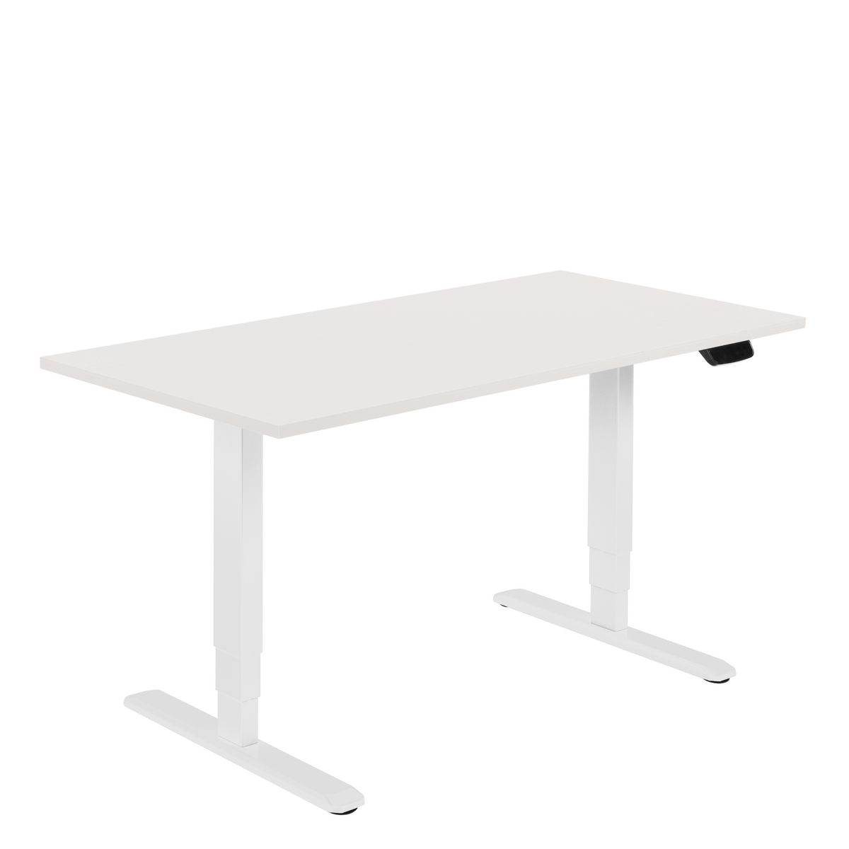 White Office Electric Sit Stand Desk