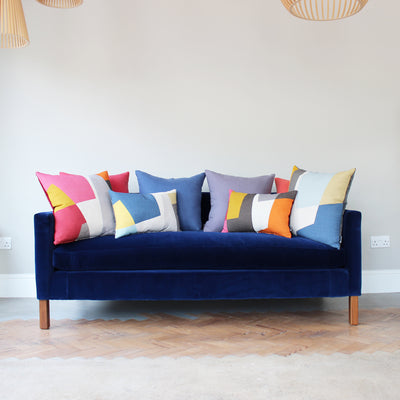 Eve Waldron Design Office Cushion Blue Windows 500 x 500mm