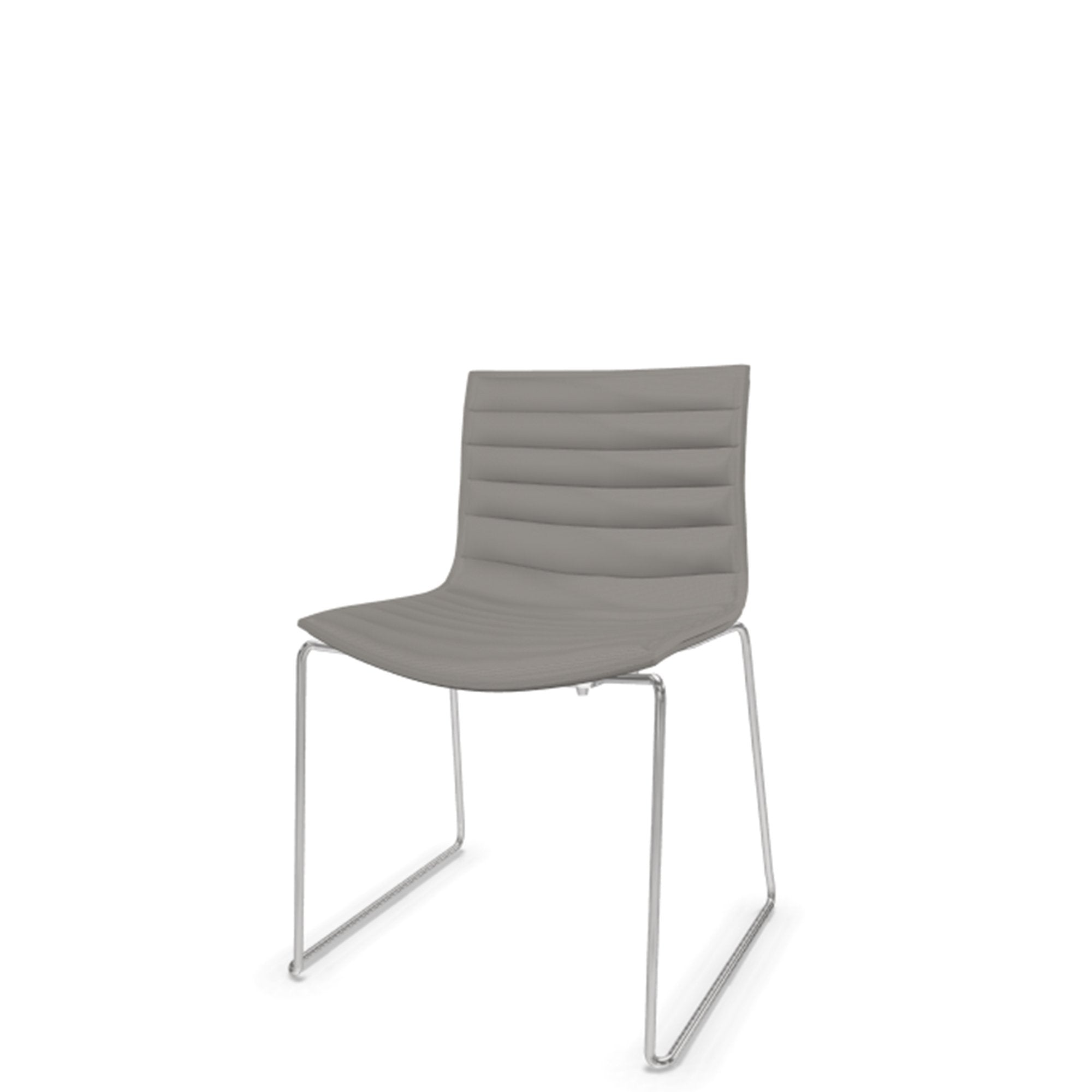 Arper Catifa 46 Stackable Chair Cloud 0242 with Chrome Base