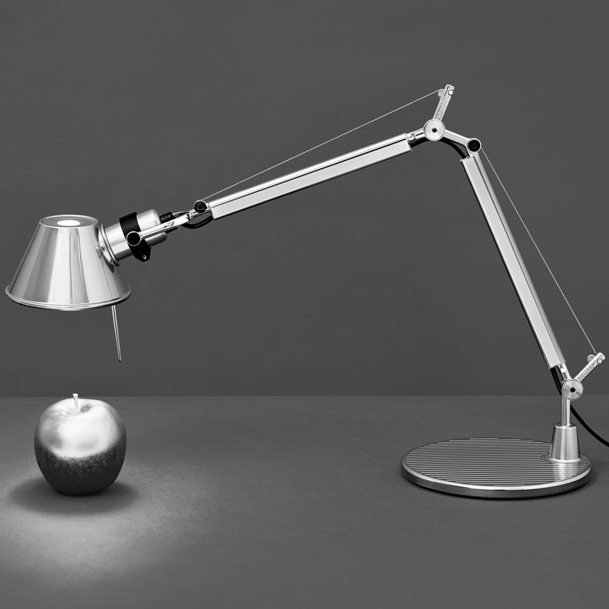 Artemide Office Aluminium Tolomeo Table Light with Presence Detector