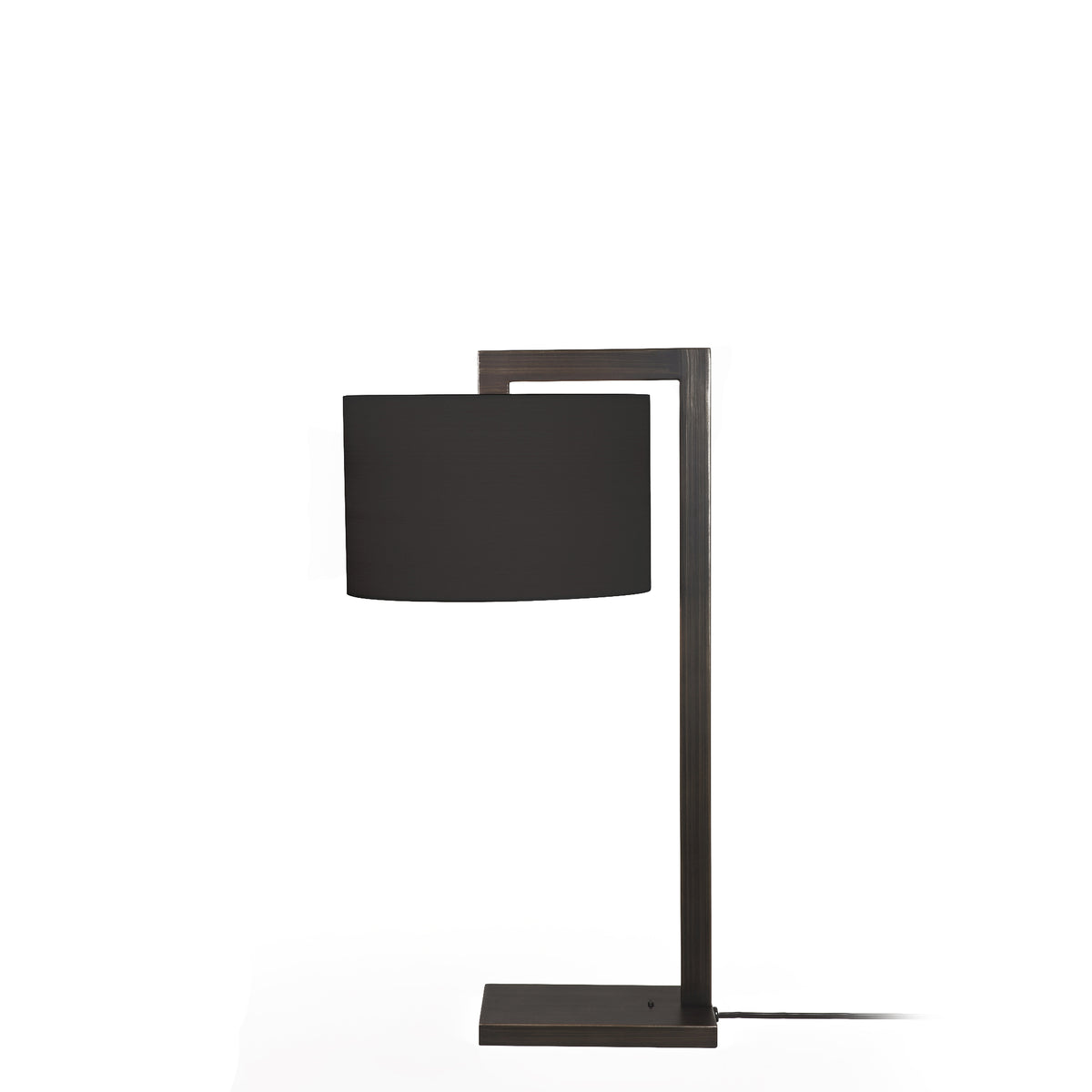 Astro Lighting Office Bronze Ravello Table Lamp with Black Drum Shade