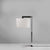 Astro Lighting Office Chrome Ravello Table Lamp with White Drum Shade
