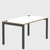 Elite Office Matrix Desk 1400mm White with Plywood Edge