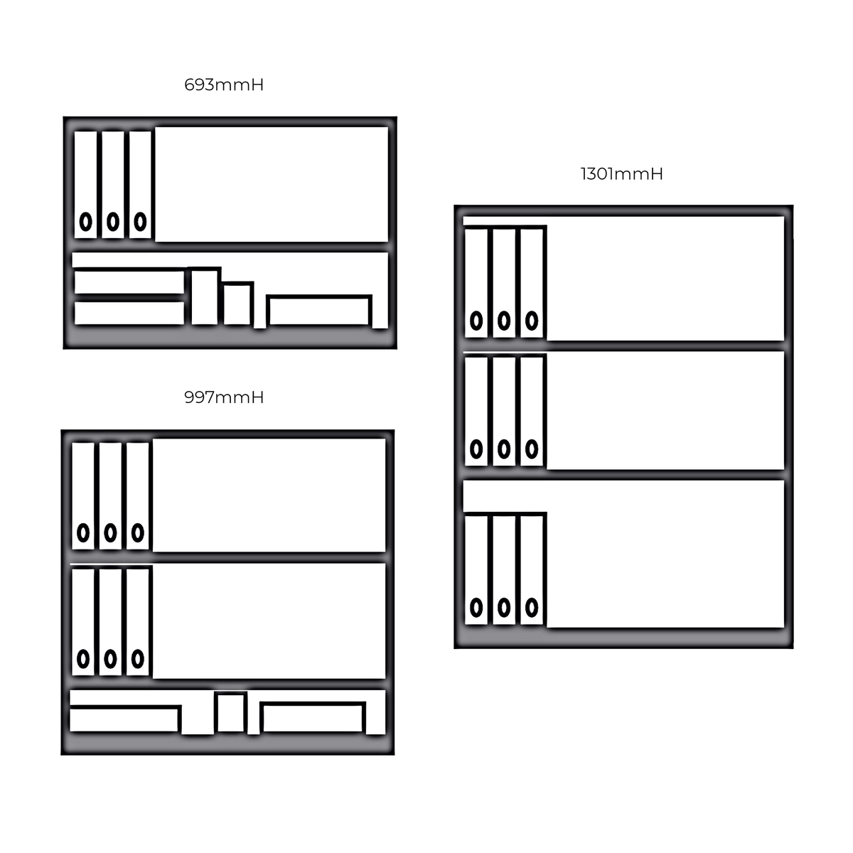 Dimensions for Bisley LateralFile 2 Door Office Storage