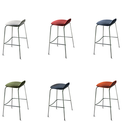 New Design Group Coffee Stool Fully Upholstered Low Back