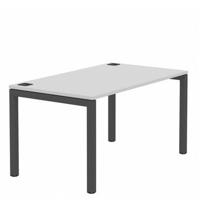 Elite Office Matrix Desk 1400mm Grey MX with White Edge