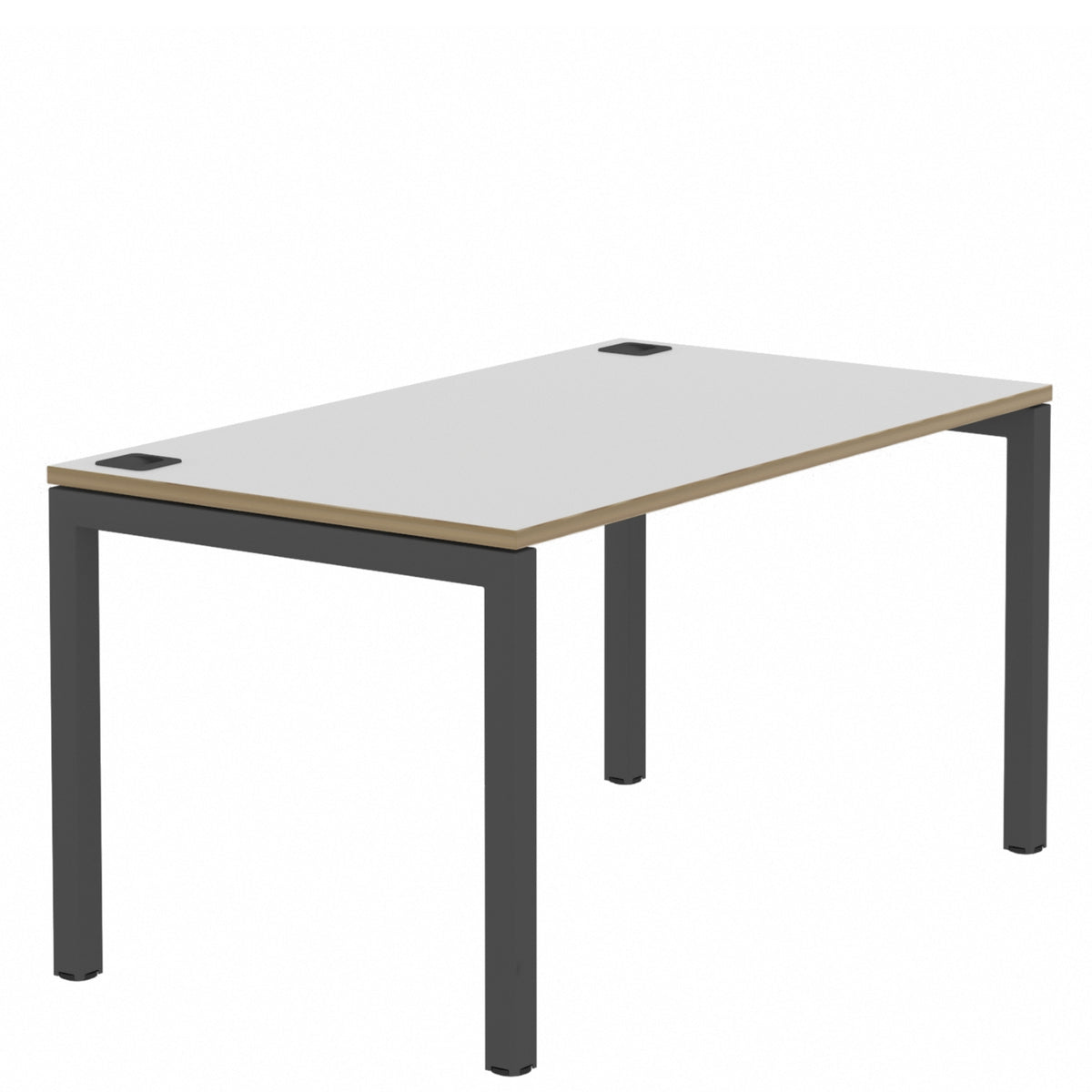 Elite Office Matrix Desk 1200mm White with Plywood Edge